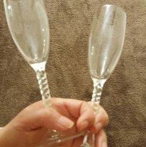 Kitchen - Champagne/wine glasses